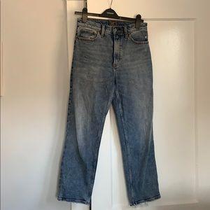 Abercrombie High Rise Straight Leg Jeans